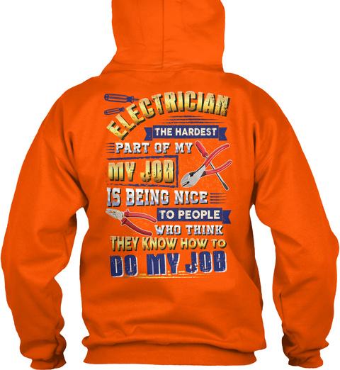 Do My Job Safety Orange T-Shirt Back