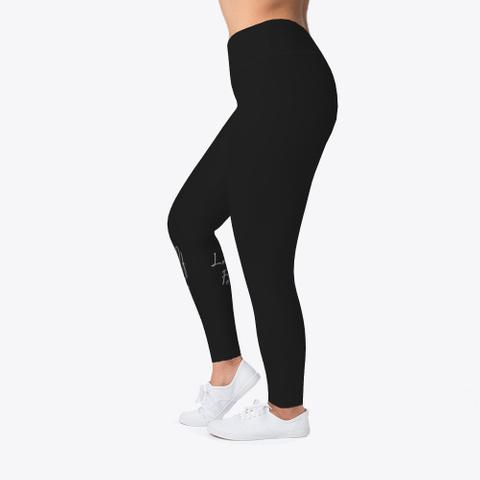 Yoga Is Lyfe Leggings Black T-Shirt Left