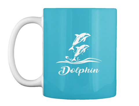 Dolphin Turquoise T-Shirt Front