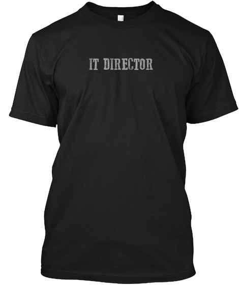 It Director Black T-Shirt Front