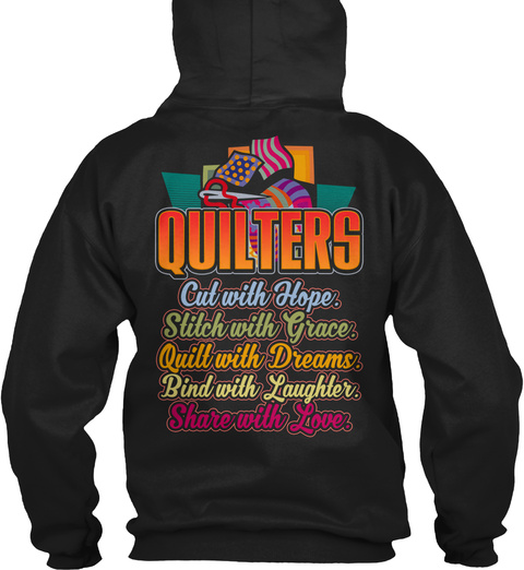 Quilting   Black Friday Exclusive Black T-Shirt Back