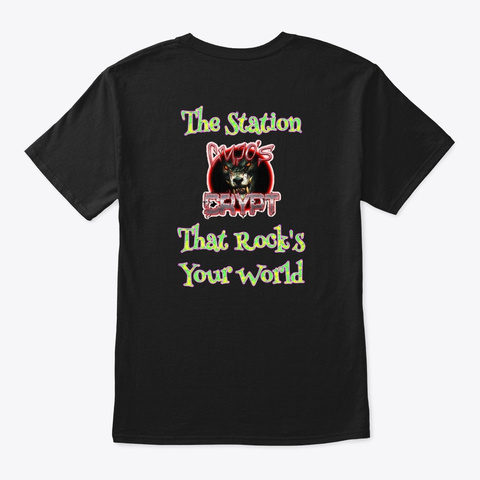 Time To Rock The Crypt Black T-Shirt Back