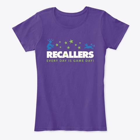 Recallers Hoodies, Tees And Mugs Purple T-Shirt Front