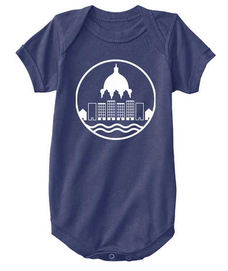 Yimby Babywear: More Homes In St. Paul Navy  T-Shirt Front