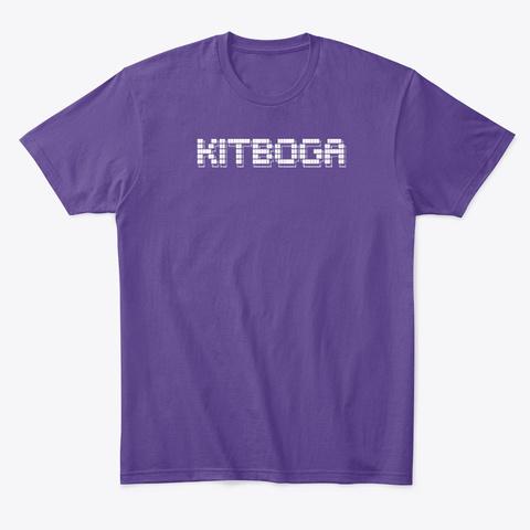 Ascii Kitboga Purple T-Shirt Front
