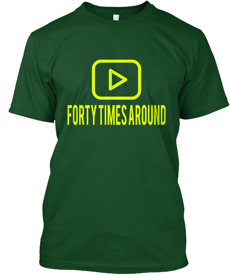 Forty Times Around Deep Forest T-Shirt Front