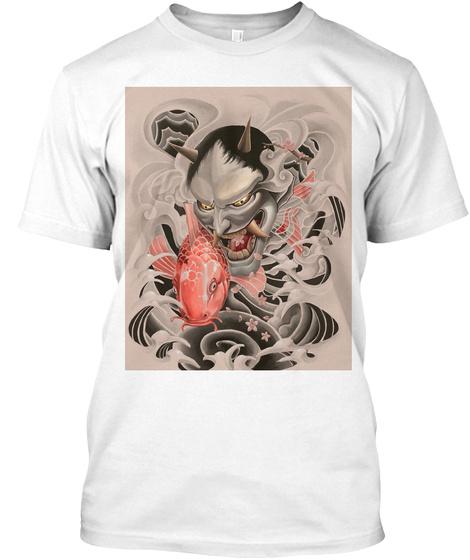 Koi Oni White T-Shirt Front