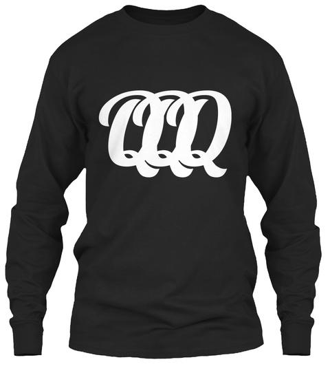 Qq Q Q Q Black T-Shirt Front