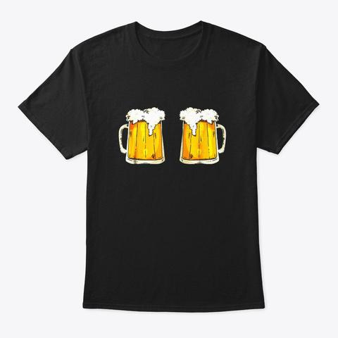 Titties N Beer Boob T Shirt Sexy Funny Black T-Shirt Front