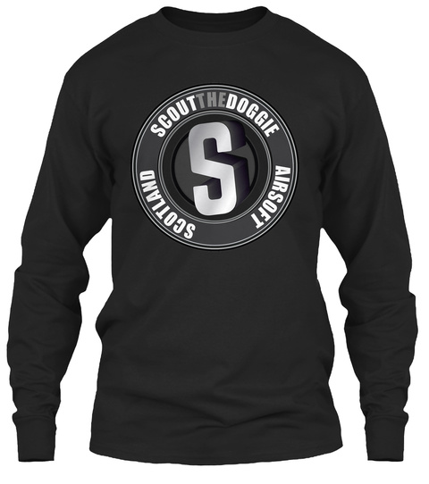 Scout The Doggie S Scotland Airsoft Black T-Shirt Front