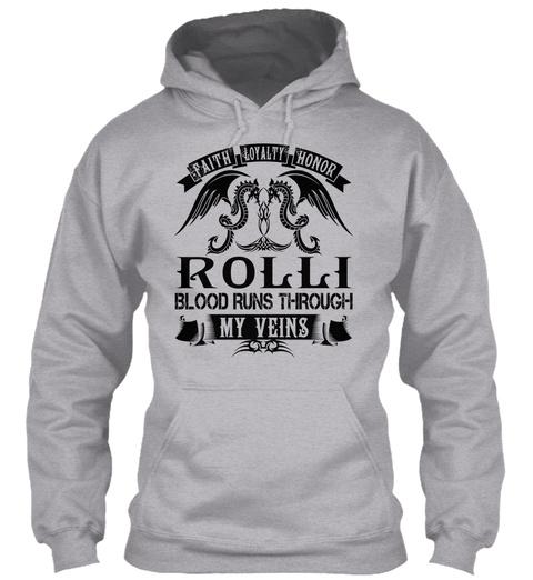 Rolli   My Veins Name Shirts Sport Grey T-Shirt Front