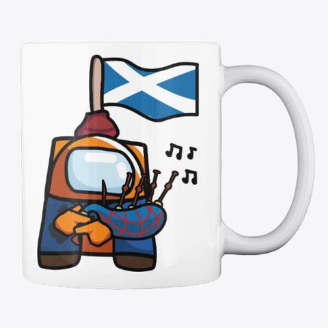 Scottish Bagpipes White T-Shirt Back
