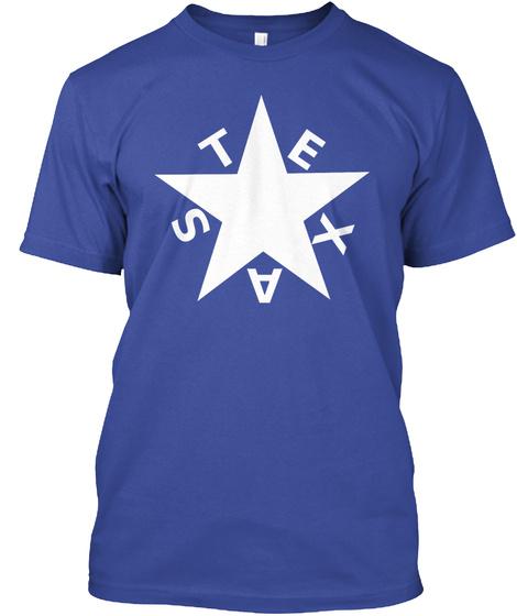 Texas Deep Royal T-Shirt Front