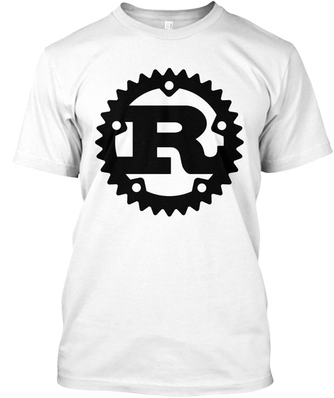 Rust Programming T Shirt White T-Shirt Front