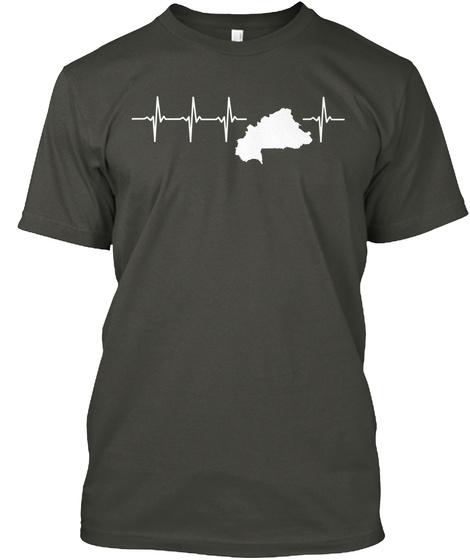 Burkina Faso Holiday Gift Smoke Gray T-Shirt Front