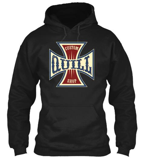Quill Custom Shop Black T-Shirt Front