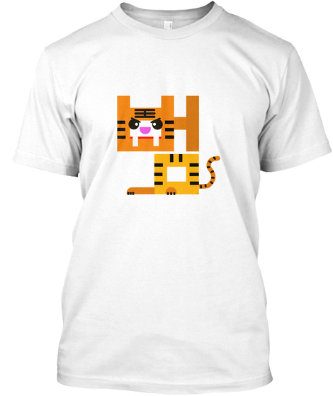 Tiger  Big Cat White T-Shirt Front