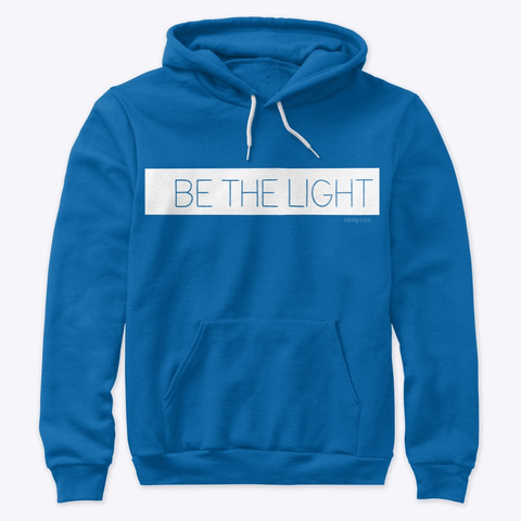 Premium Light Hoodie True Royal T-Shirt Front