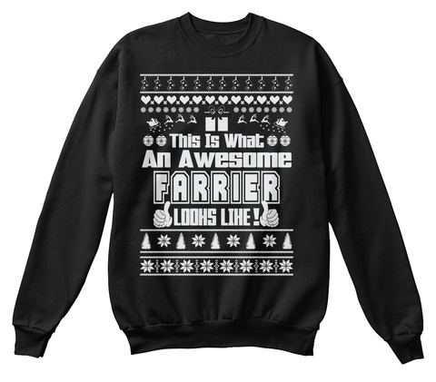 This Is What An Awesome Farrier Lodhs Lihe Black T-Shirt Front