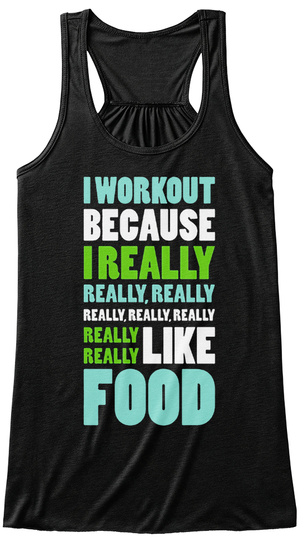 Really Really Like Food Black T-Shirt Front