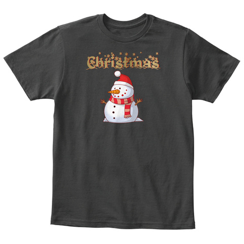 Snowman For Christmas Black T-Shirt Front