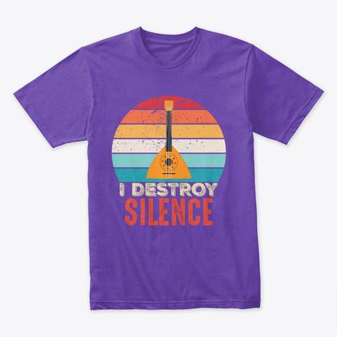 Balalaika Player  Funny Musician Gift Purple Rush T-Shirt Front