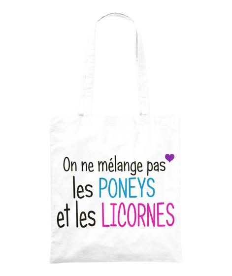 Sac Poneys Et Licornes White Tote Bag Front