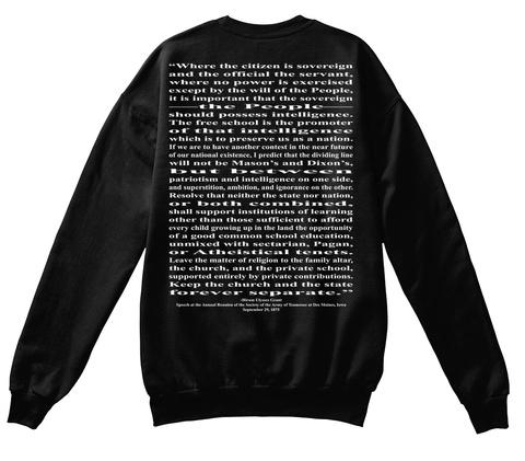 Presidential Quotes #18 Usg Black T-Shirt Back