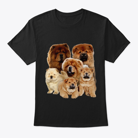 Chow Chow Five Black T-Shirt Front