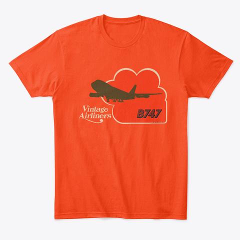 Vintage Airliners Jet Age Airliner Tee Deep Orange  T-Shirt Front