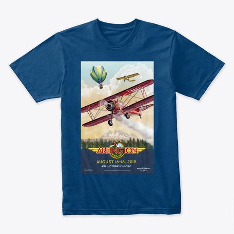 Afi 2019 Poster Artwork Cool Blue T-Shirt Front