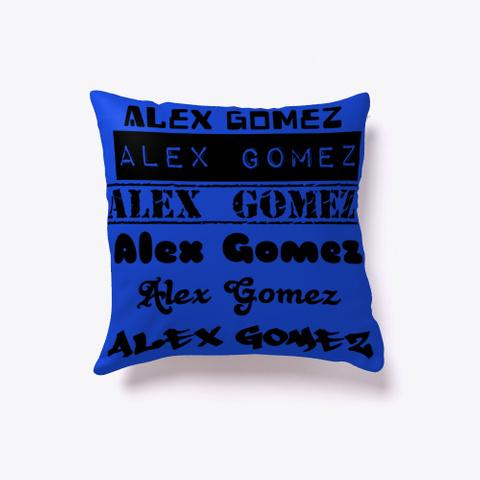 """Foreign Languages """"Alex Gomez"""" Royal Blue T-Shirt Front"""