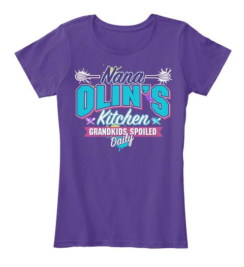 Nana Olin's Kitchen Purple T-Shirt Front