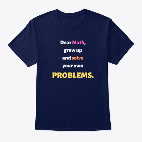 Just For Math. Navy T-Shirt Front