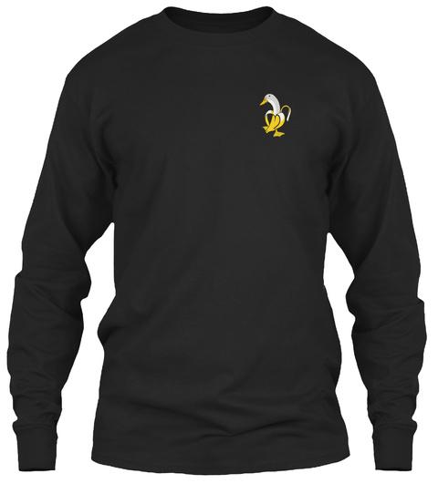Pocket Banana Banana Duck Black T-Shirt Front
