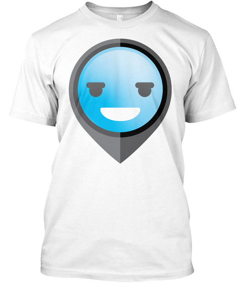 Pointer Emoji Silly Happy Look White T-Shirt Front