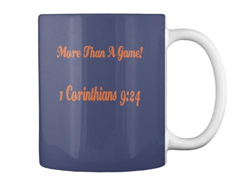 More Than A Game! 1 Corinthians 9:24 Dk Navy Mug Back