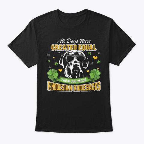 St Patricks Day Rhodesian Ridgebacks Black T-Shirt Front