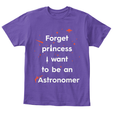 Forget Princess 2 Kid [Usa] #Sfsf Purple  T-Shirt Front