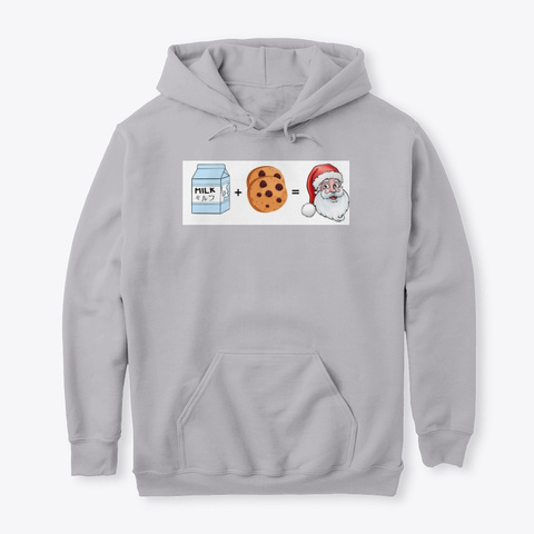 Milk + Cookies = Santa (Sweat/T Shirt) Sport Grey T-Shirt Front