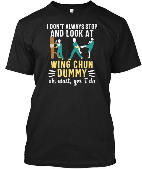 Wing Chun China Kung Fu Martial Arts Usa Black T-Shirt Front