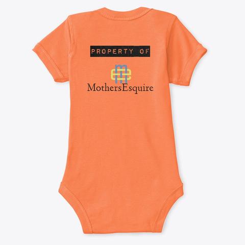 Res Judicata Orange T-Shirt Back