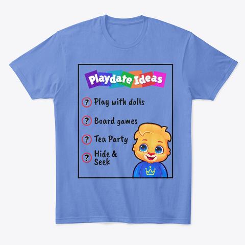 An Heathered Royal  T-Shirt Front