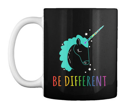 Be Different Black Mug Front