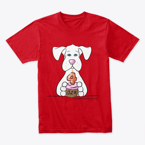 Happy Birthday Ozr Red T-Shirt Front