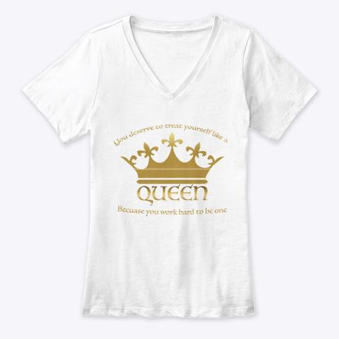 Queen White T-Shirt Front