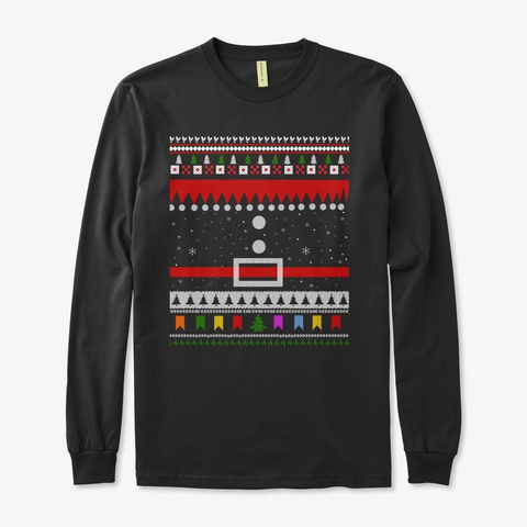 Ugly Christmas Carnival Sweater Black T-Shirt Front