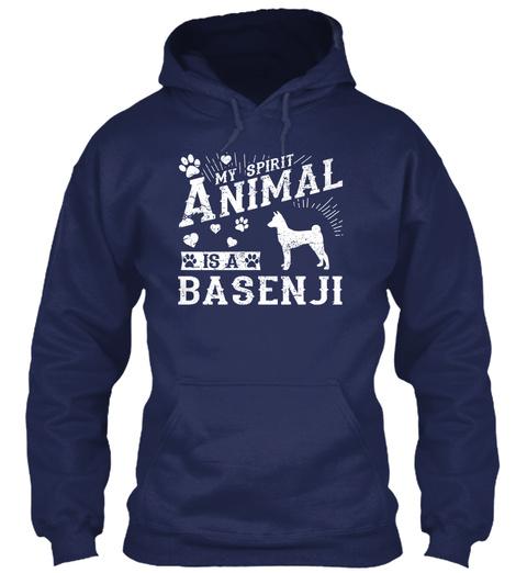 Basenji Navy T-Shirt Front