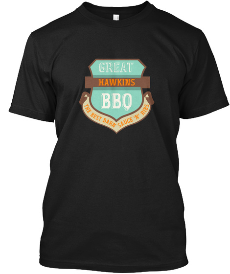 Hawkins   Family Barbecue Black T-Shirt Front