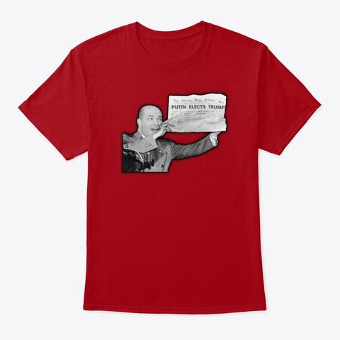 Putin Elects Trump! Deep Red T-Shirt Front